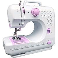 KPCB Máquina de coser con 12 tipos de puntadas que incluyen puntadas inversas y ojales