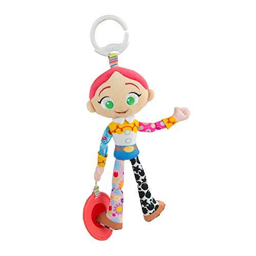 Lamaze Disney Pixar Toy Story Baby Spielzeug Clip & Go Jessie  - Stoffspielzeug Kleinkindspielzeug - Motorikspielzeug mit Anhänger zum Beißen und Greifen - für Babies Kleinkinder ab 0+ Monaten