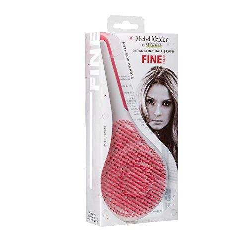 gling hair brush für feines Haar - pink - Rutschfester Griff, 1er Pack (1 x 1 Stück) ()