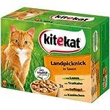 48x100g Kitekat Multipack Landpicknick in Sauce das Lieblings-Katzenfutter