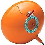 MELICONI Guscio Box- Caja fuerte portátil con llave y pulsera, para playa, camping, deportes aire libre, gimnasio, montaña, color naranja