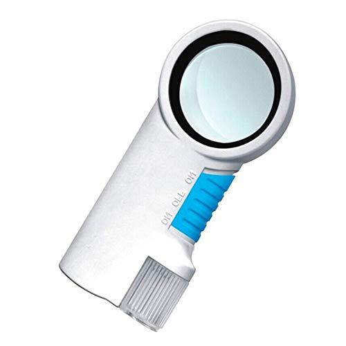 Fangfang GAO magnifier Lupe HD 8 Mal LED-Licht Kunststoff Handheld Alter Mann Lesung Anerkennung mit Taschenlampe Funktion Lupe Handheld-taschenlampe