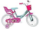 "altro Art. 2495 MGA, Bici Bimba 16"" LOL 2 Freni Unisex_Bambini, Rosa-Celeste"