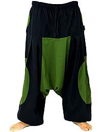 Guru-Shop Haremshose, Pluderhose, Pumphose, Aladinhose, Herren/Damen, Baumwolle, Size:One Size, Männerhosen Alternative Bekleidung
