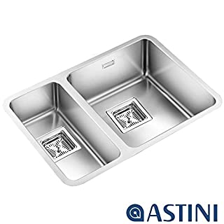 Astini Vico 1.5 Bowl Silk Stainless Steel Undermount Kitchen Sink AS369LHSB