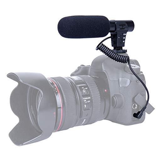 TKOOFN Microfono per Fotocamera MIC Microfono Mono Portatile Leggero Facile per DSLR Canon Nikon Sony Pentax Fotocamera Videocamera DV Registrazione