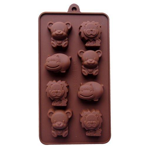 Dansuet 8 Cavitš€ antiaderente animale bello del gel del silicone della muffa della torta di cioccolato del mestiere Candy Soap vassoio del cubo di ghiaccio Bakeware fai da te Mold, Candy sapone cottura Bakeware fai da te Mold per le donne