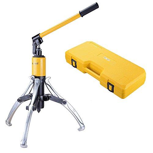 Hub Puller Set (ReaseJoy 15 Ton Hydraulic Bearing Separator Hub Puller 3 Jaws Gear Garage Hand Tool Set Kit with Case)