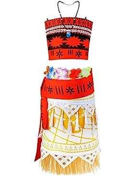 Viniolves Mädchen Kleid Adventure Prinzessin Vaiana Kostüme Outfit Party Kleid