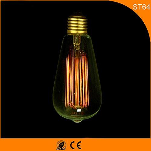 E27, retro, Edison lampadina ST64 / 19, 220V bianco caldo,
