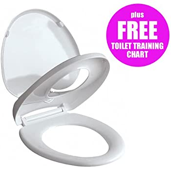 Ecospa White Oval Toilet Seat For Adults Amp Small Children