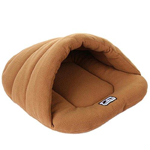 cama de perrito Sannysis Plegable Casa para mascotas de Gato (Café, M)