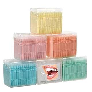 Adiasen 1100pcs Plastique Oral dents Brosse de nettoyage fête cure-dents Hôtel Ménage blanc