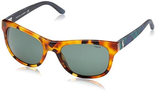 Polo ralph lauren occhiali da sole mod.4091 vintage tokio tortoise/green, 55