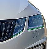 Headlights Design Stripes | Scheinwerferfolie | Verschiedene Farben | Folienstreifen | 3 Stk. je 7,5 mm x 900 mm (Gelbgrün)