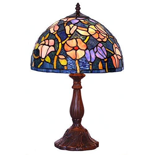 Light-YRQ 12-Zoll-Tiffany-Stil Tischlampe, 12-Zoll-kreative Kunst im europäischen Stil dekorative Schreibtischlampen, Wohnzimmer Schlafzimmer MAX 40W × 1 (Dutzend Perlen Im)