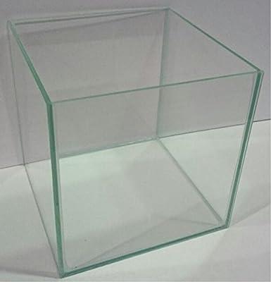 Glasaquarium Würfel 35x35x35 cm Glasbecken Aquarium Cube ohne Streben transparent verklebt