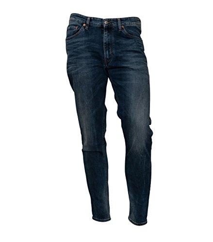 Drykorn Herren Jeans Deep in Used-Blau 34 Blue 32W / 34L