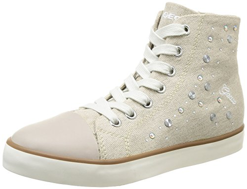 Geox J Ciak G G, Baskets mode fille Beige