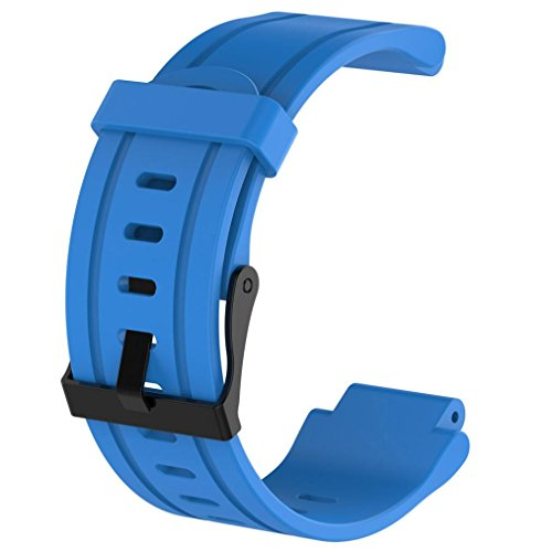 Fällen Gps Zubehör Garmin (Armband Für Garmin Forerunner 225 Ersatz GPS Uhrenarmband Weiches Silikon Strap + Fall Abdeckung Für Männer / Dame (Blue))