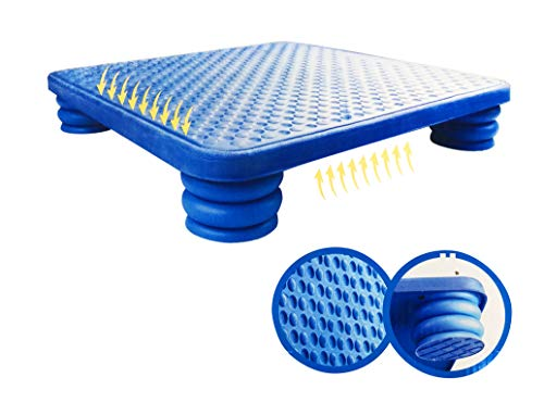 Rayline Sport Serie - Rutschfestes Balance Board XXL für Yoga, Ganzkörpertraining, Kampftraining - Abmessungen: LxBxH: 60x60x9 cm (Farbe: Blau)