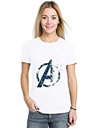 Crazy Sutra Premium Dry-FIT Polyester Unisex Half Sleeve Casual Printed Avengers Endgame Special Tshirt [T-Avengers-Icon_W]