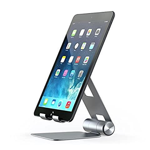 Satechi Support pliable multi-angles Tablette – Compatible avec iPad, iPad Pro, iPhone 7+, Samsung S8, MacBook 2015/2016, Microsoft Surface, Nintendo Switch et Plus (Gris Sidéral)
