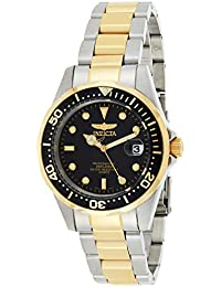 Invicta Pro Diver Unisex Wrist Watch Stainless Steel Quartz Black Dial - 8934
