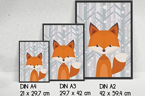 2er Set Waldtiere – Motive und Hintergrund wählbar- ohne Rahmen - 9