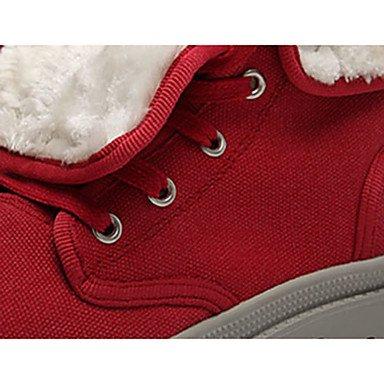 Wsx & Plm Femmes-bottines-casual-confortable-flat-rope-noir Jaune Rouge Gris Jaune Clair