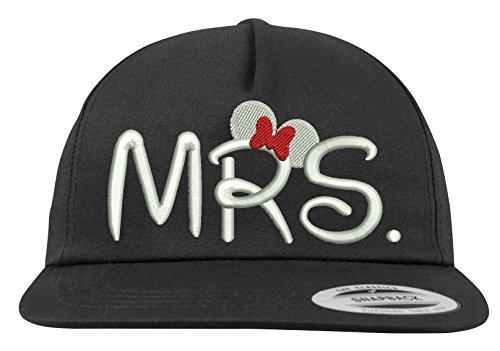 Youth Designz Baseball Kappe Snapback Cap Modell MRS. - Schwarz