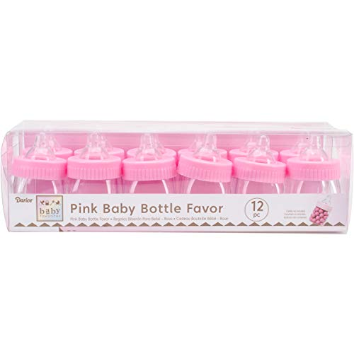 Darice Party Favors 12/Pkg-Pink Baby Bottles