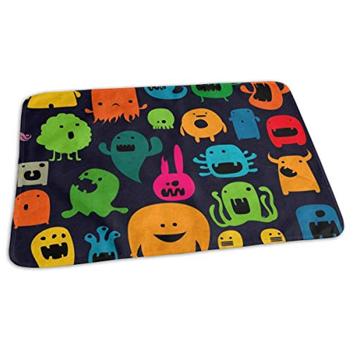 ng Pad Liners Cute Monsters Daily Use Diaper Changing Pad Mats Portable Pad 25.5x31.5 Inches ()