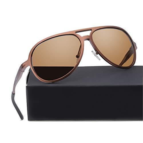ELIVWR Pilotenbrille Sonnenbrille Herren Polarisier Metallrahmen Leicht für Autofahren, 100% Schutz...