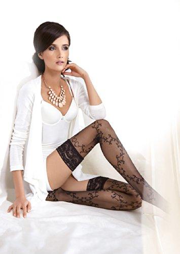 Gatta Lavinia 18 - elegant gemusterte halterlose Strümpfe