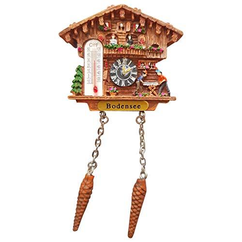 Ciffre Kuckucksuhr Magnet Polyresin Kühlschrank Wetterhaus - Bodensee