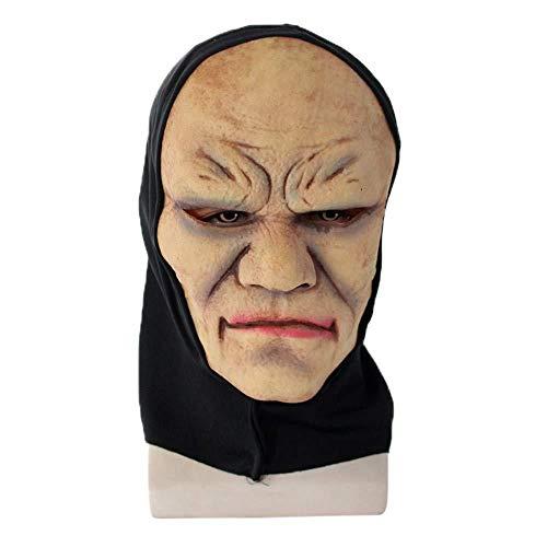 Wddqzf Dekoration Statuen Halloween Neuheit Cosplay Scary Mask Horror Latex Kopf Maske Kostüm Für Erwachsene Party Dekoration Requisiten Creepy Für (F), B