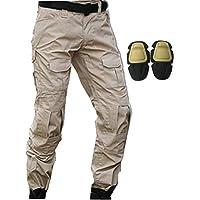 haoYK Pantalon Militaire Paintball BDU Pantalon Airsoft Pantalon Polyvalent avec genouillères