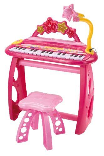 Bontempi mk 3471/r - tastiera elettronica a 31 tasti con microfono, gambe e sgabello