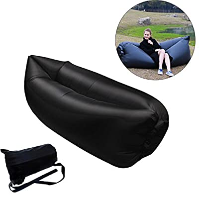 Inflatable Lounger Couch with Carry Bag Hammock Air Sofa Inflatable Bed Pool Float for Indoor/Outdoor Hiking Camping,Beach,Park,Backyard Waterproof Durable - inexpensive UK light store.