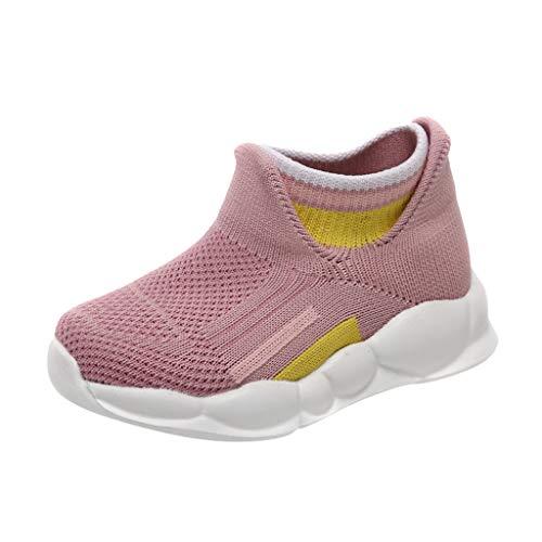 Xuthuly Fashion Kinder Bequeme atmungsaktive Stretch-Mesh-Schuhe Kinder Baby Outdoor Running Sneakers Lässige Slip-On Sportschuhe -