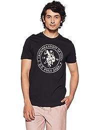 U.S. Polo Assn. Men's Solid Regular Fit T-Shirt 8907797002496 (I643-002-PL_Black_Black_M)