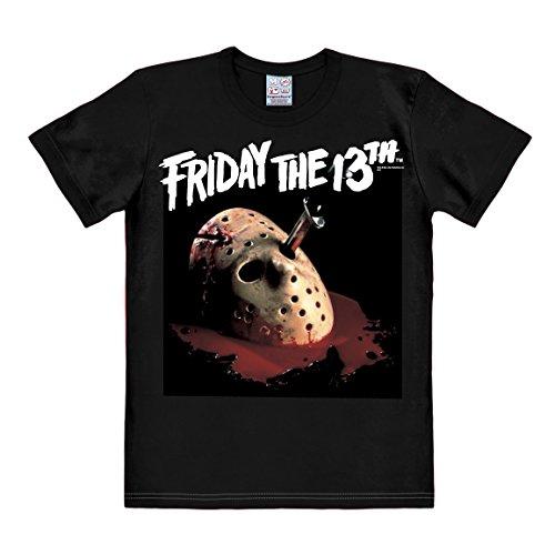 T-shirt Venerdì 13 - maglia Friday the 13th - Cult del film - maglietta girocollo di LOGOSHIRT - nero - design originale concesso su licenza, taglia XXL