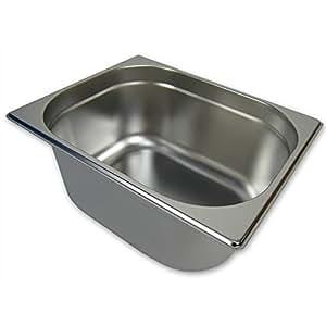GN 1/2 Gastronormbehälter GN-Behälter Edelstahl 9,5 Liter Tiefe 150mm