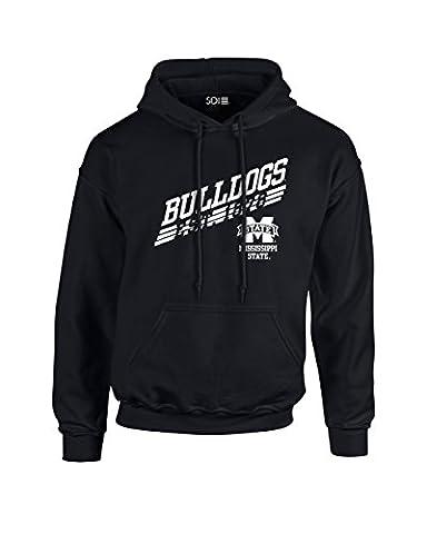 NCAA Mississippi State Bulldogs Unisex 50/50 Blended 8 oz. Hooded Sweatshirt, black, X-Large