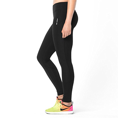 WORKOUT PERFORMANCE TIGHT - Damen Leggings für Athletinnen im Bereich Sport & Fitness, Crossfit, Krafttraining, Yoga und Running (blickdicht, Hose in schwarz)