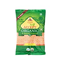 Accept Organic Malka Masoor/Whole Red Lentil 0.5 KG Pack of Healthy & Organic Pulses