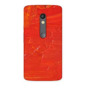 Orange Paint Back Case Cover for Moto X Play