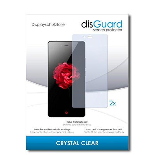 disGuard® Bildschirmschutzfolie [Crystal Clear] kompatibel mit ZTE Nubia Z9 Max [2 Stück] Kristallklar, Transparent, Unsichtbar, Extrem Kratzfest, Anti-Fingerabdruck - Panzerglas Folie, Schutzfolie