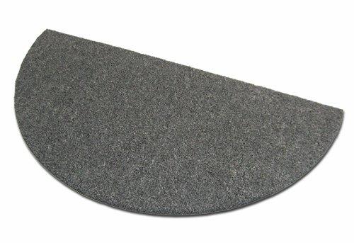 Deko-Matten-Shop Fußmatte Olefin, Schmutzfangmatte, halbrund, 40x80 cm, Grau, in 16 Größen und 5 Farben